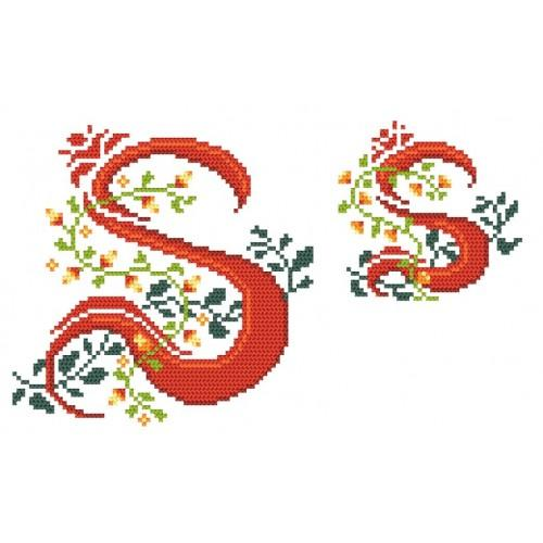 Wzór graficzny - Monogram S - B. Sikora-Małyjurek - Haft krzyżykowy