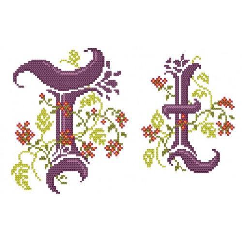 Wzór graficzny - Monogram T - B. Sikora-Małyjurek - Haft krzyżykowy