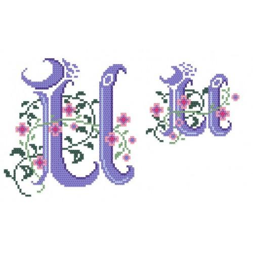 Wzór graficzny - Monogram U - B. Sikora-Małyjurek - Haft krzyżykowy