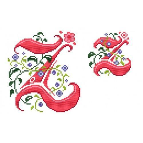 Wzór graficzny - Monogram Z - B. Sikora-Małyjurek - Haft krzyżykowy