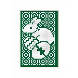 Wzór graficzny - Kartka wielkanocna - Królik - B. Sikora - Haft krzyżykowy