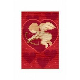 Wzór graficzny - Walentynki- Amorek - Haft krzyżykowy