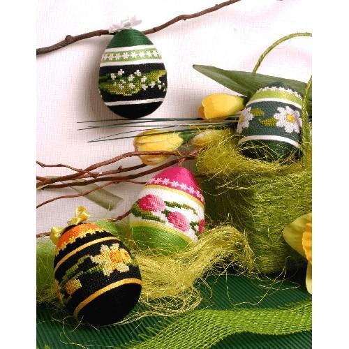 Wzór graficzny - Wielkanocne pisanki - B. Sikora-Małyjurek - Haft krzyżykowy