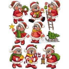 Wzór graficzny - Ozdoby choinkowe- Świąteczne misie