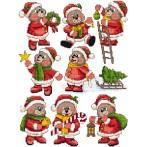 Wzór graficzny - Ozdoby choinkowe- Świąteczne misie - Haft krzyżykowy