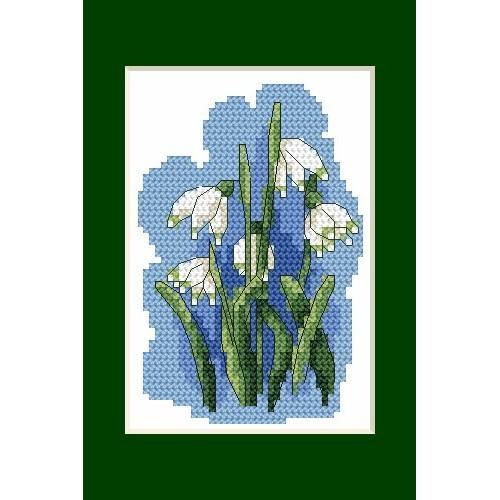 Wzór graficzny - Kartki wielkanocne- Śnieżyce - Haft krzyżykowy