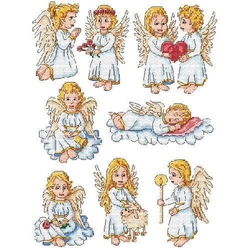 Wzór graficzny - Aniołki