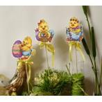 Wzór graficzny - Wielkanocne kurczaczki - Haft krzyżykowy