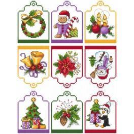 Wzór graficzny - Zawieszki na prezenty - Haft krzyżykowy