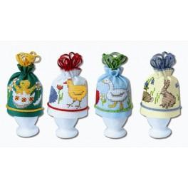 Wzór graficzny - Ocieplacze na jajka - Haft krzyżykowy