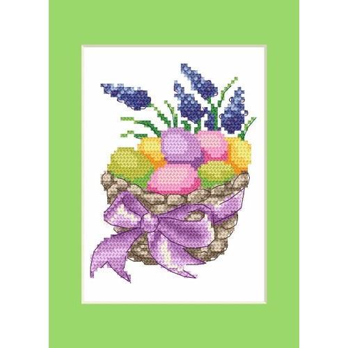 Wzór graficzny - Kartka wielkanocna - Wielkanocne pisanki - Haft krzyżykowy
