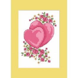 GU 4984 Wzór graficzny - Kartka ślubna - Ślubne serduszka