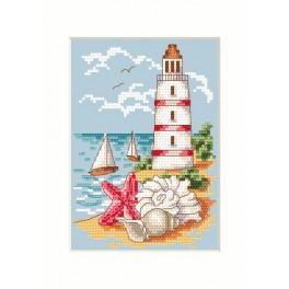 GU 4998 Wzór graficzny - Latarnia morska - Haft krzyżykowy