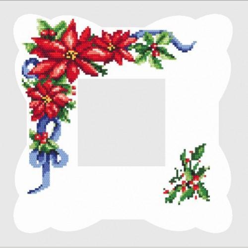 Wzór graficzny - Serwetka z gwiazdą - Haft krzyżykowy