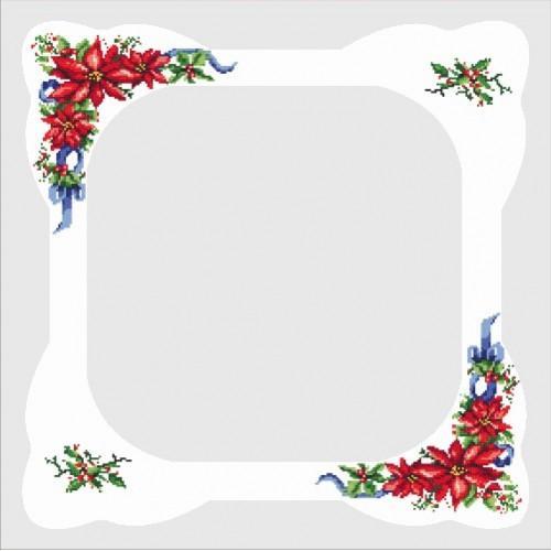 Wzór graficzny - Obrus z gwiazdą - Haft krzyżykowy