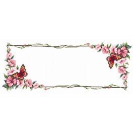 Wzór graficzny - Bieżnik z motylem - Haft krzyżykowy