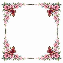 Wzór graficzny - Obrus z motylem - Haft krzyżykowy