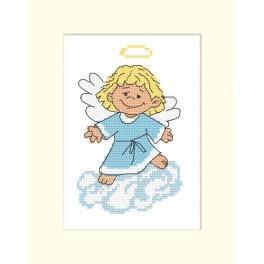 Wzór graficzny - Kartka z aniołkiem - Haft krzyżykowy
