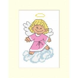 GU 8334 Wzór graficzny - Kartka z aniołkiem - Haft krzyżykowy