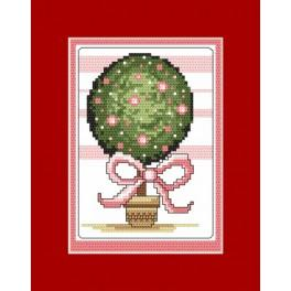 GU 8335 Wzór graficzny - Kartka - Drzewko szczęścia - Haft krzyżykowy