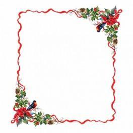 Wzór graficzny - Obrus - świąteczny wieczór - Haft krzyżykowy