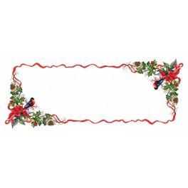 Wzór graficzny - Bieżnik - świąteczny wieczór - Haft krzyżykowy