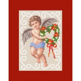GU 8443 Wzór graficzny - Kartka świąteczna - Kartka z aniołkiem - Haft krzyżykowy