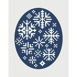 GU 8444 Wzór graficzny - Kartka świąteczna - Płatki śniegu - Haft krzyżykowy