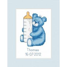 GU 8450 Wzór graficzny - Kartka - Narodziny - Miś