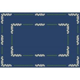 Wzór graficzny - Obrus z margaretkami - Haft krzyżykowy