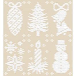 Wzór graficzny - Wzory świąteczne - Haft krzyżykowy