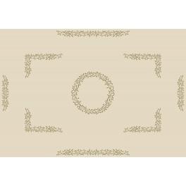 Wzór graficzny - Obrus z jemiołą - Haft krzyżykowy