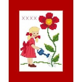 Wzór graficzny - Kartka - Dla babci - Haft krzyżykowy