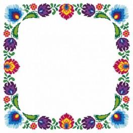 Wzór graficzny - Serwetka etniczna - Haft krzyżykowy