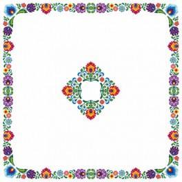 Wzór graficzny - Obrus etniczny - Haft krzyżykowy