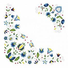Wzór graficzny - Serwetka w stylu kaszubskim - Haft krzyżykowy