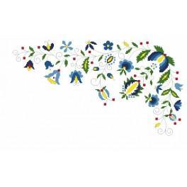 Wzór graficzny - Podkładka w stylu kaszubskim - Haft krzyżykowy