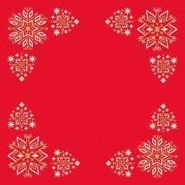 Wzór graficzny - Serwetka - Świąteczne gwiazdki - Haft krzyżykowy