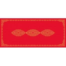 Wzór graficzny - Bieżnik z arabeską - Haft krzyżykowy