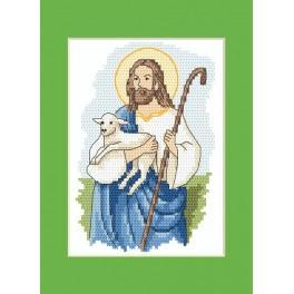 Wzór graficzny - Kartka wielkanocna – Chrystus - Haft krzyżykowy