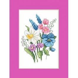 Wzór graficzny - Kartka wielkanocna - Wiosenna wiązaneczka - Haft krzyżykowy