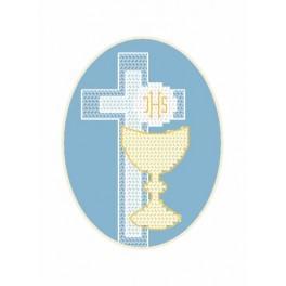 Wzór graficzny - Kartka - Hostia - Haft krzyżykowy