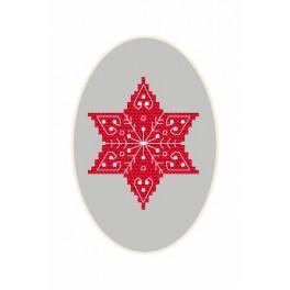 GU 8666 Wzór graficzny - Kartka Bożonarodzeniowa – Gwiazdka - Haft krzyżykowy