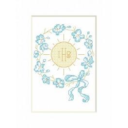 Wzór graficzny - Kartka komunijna – Hostia - Haft krzyżykowy