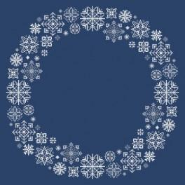 Wzór graficzny - Serwetka ze śnieżynkami - Haft krzyżykowy