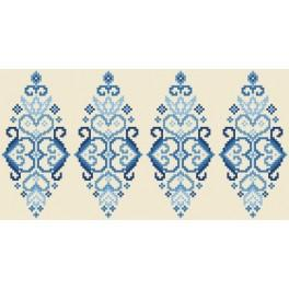 GU 8833 Wzór graficzny - Pisanka - niebieska arabeska