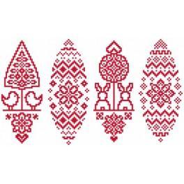 Wzór graficzny - Pisanka z Podlasia - Haft krzyżykowy