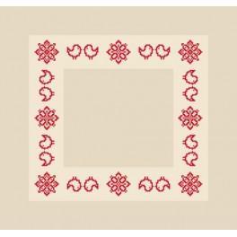 Wzór graficzny - Serwetka z Podlasia II - Haft krzyżykowy