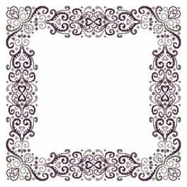 Wzór graficzny - Serwetka - Fantazyjna arabeska I - Haft krzyżykowy
