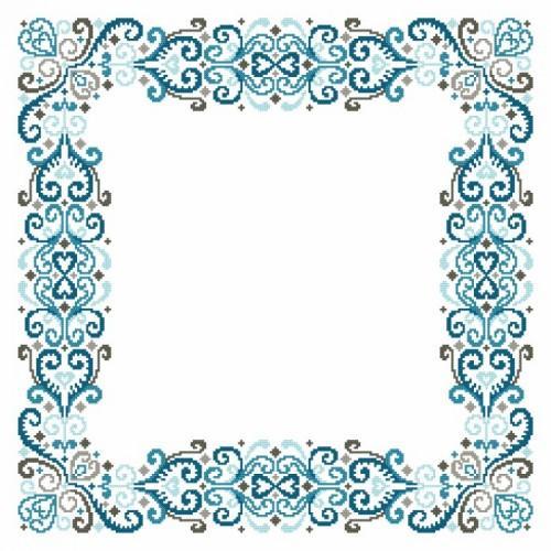 Wzór graficzny - Serwetka - Fantazyjna arabeska II - Haft krzyżykowy